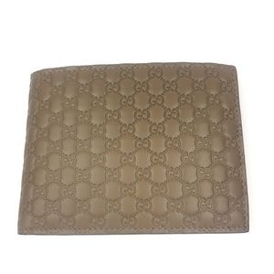 Gucci #278596 Micro-GG Leather Bi-fold Wallet